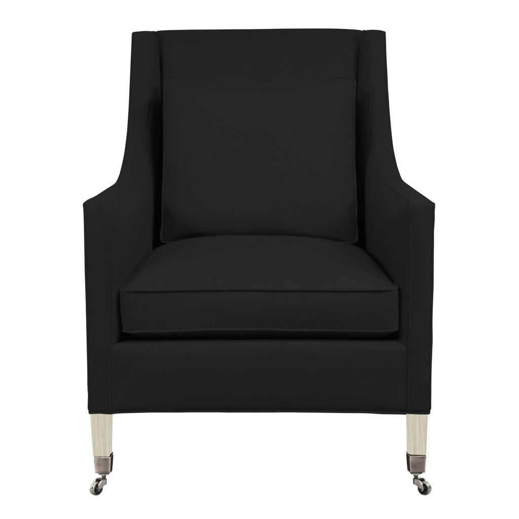 Carter Chair, Dark Grey Velvet , Dutch Cocoa Frame