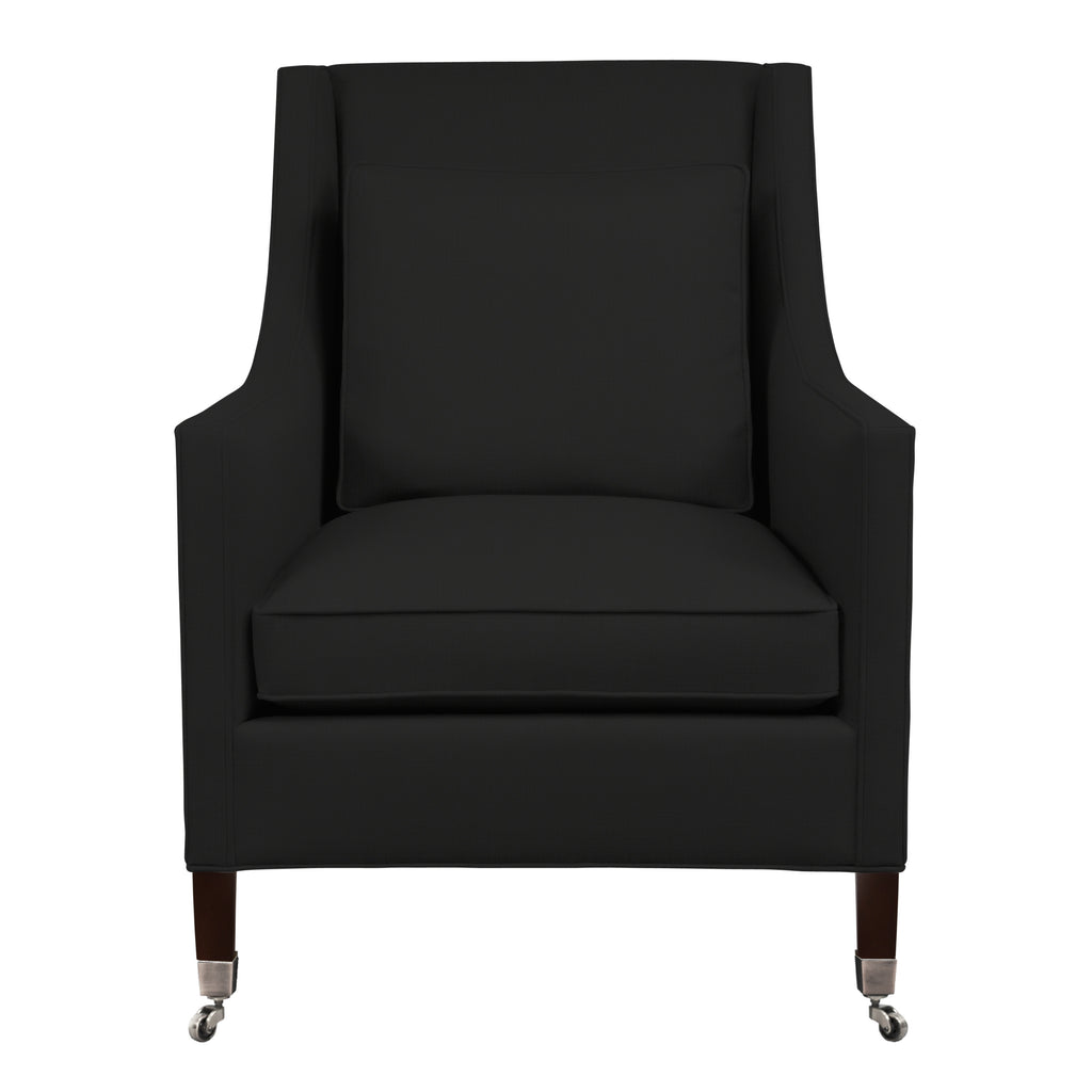 Carter Chair, Dark Grey Velvet , Sable Frame