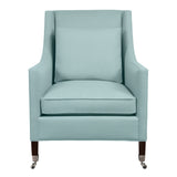 Carter Chair, Seafoam Velvet , Sable Frame