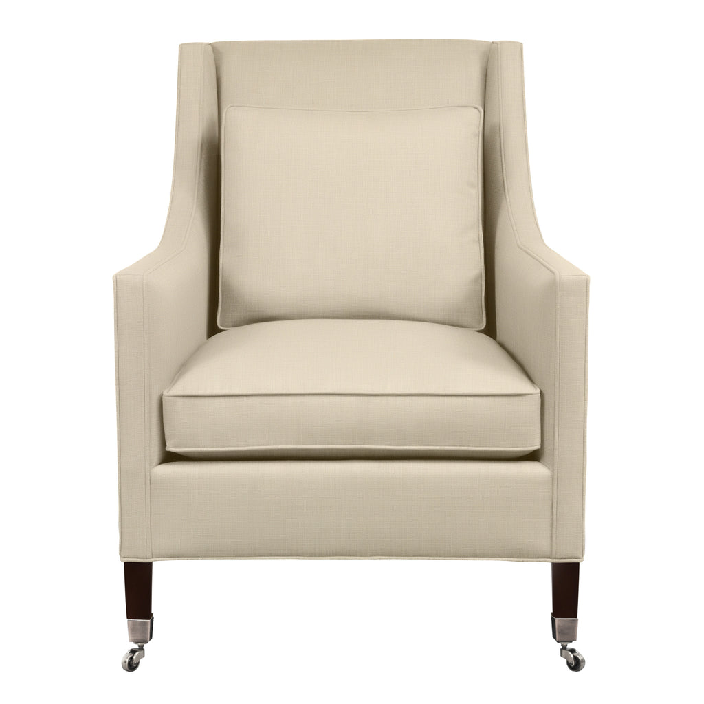 Carter Chair, Beige Velvet , Sable Frame