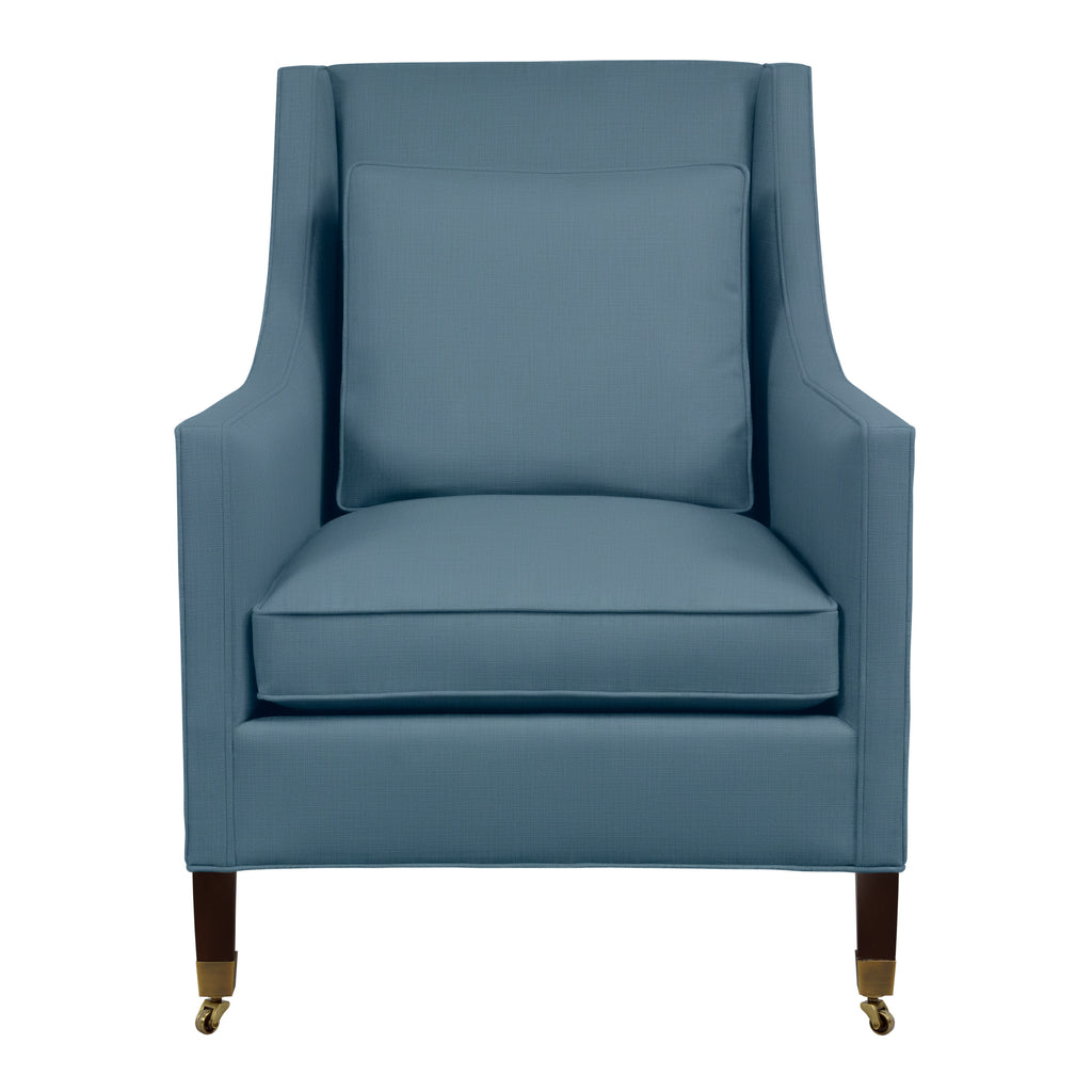 Carter Chair, Blue Velvet , Sable Frame
