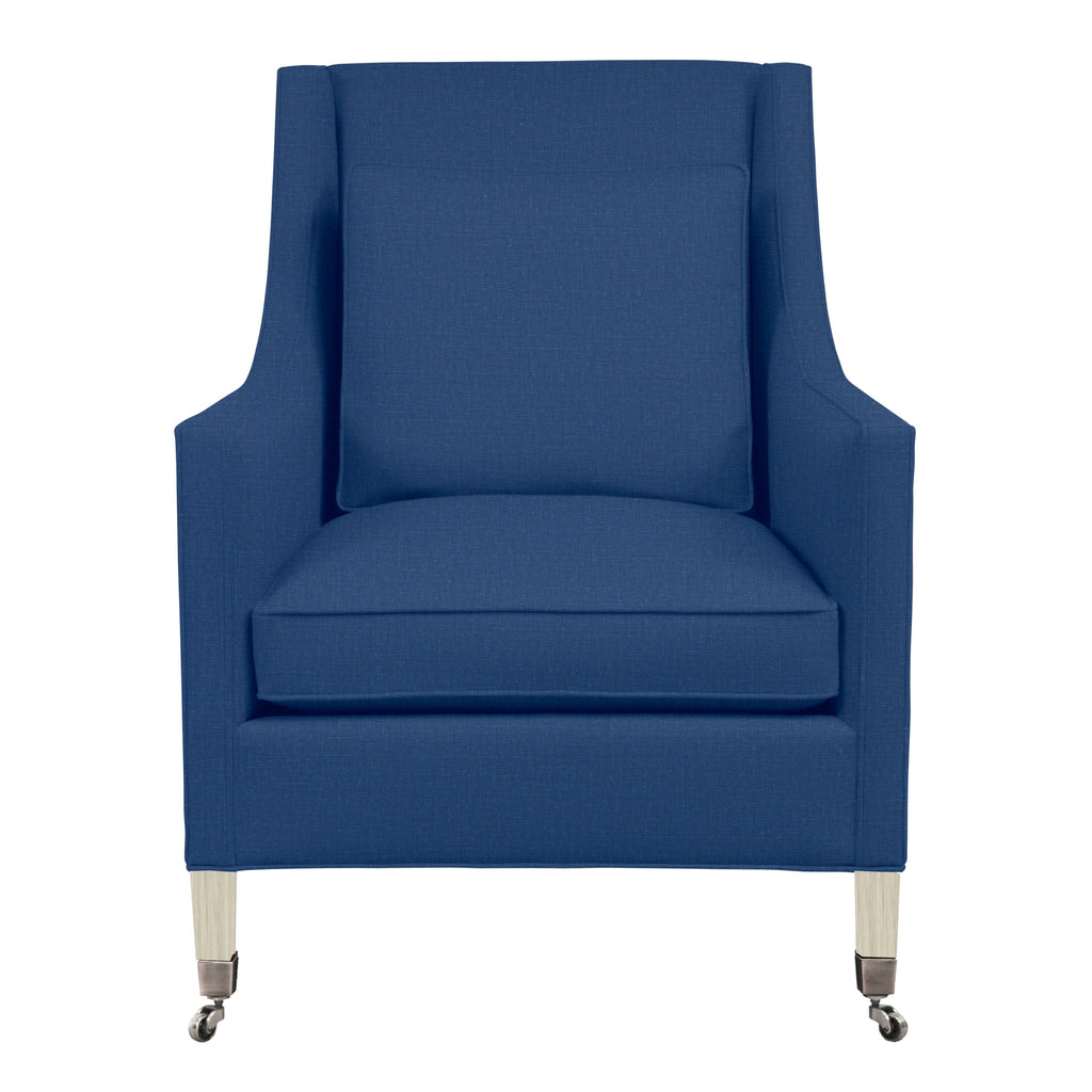Carter Chair, Blue Solid , Dutch Cocoa Frame