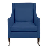 Carter Chair, Blue Solid , Sable Frame
