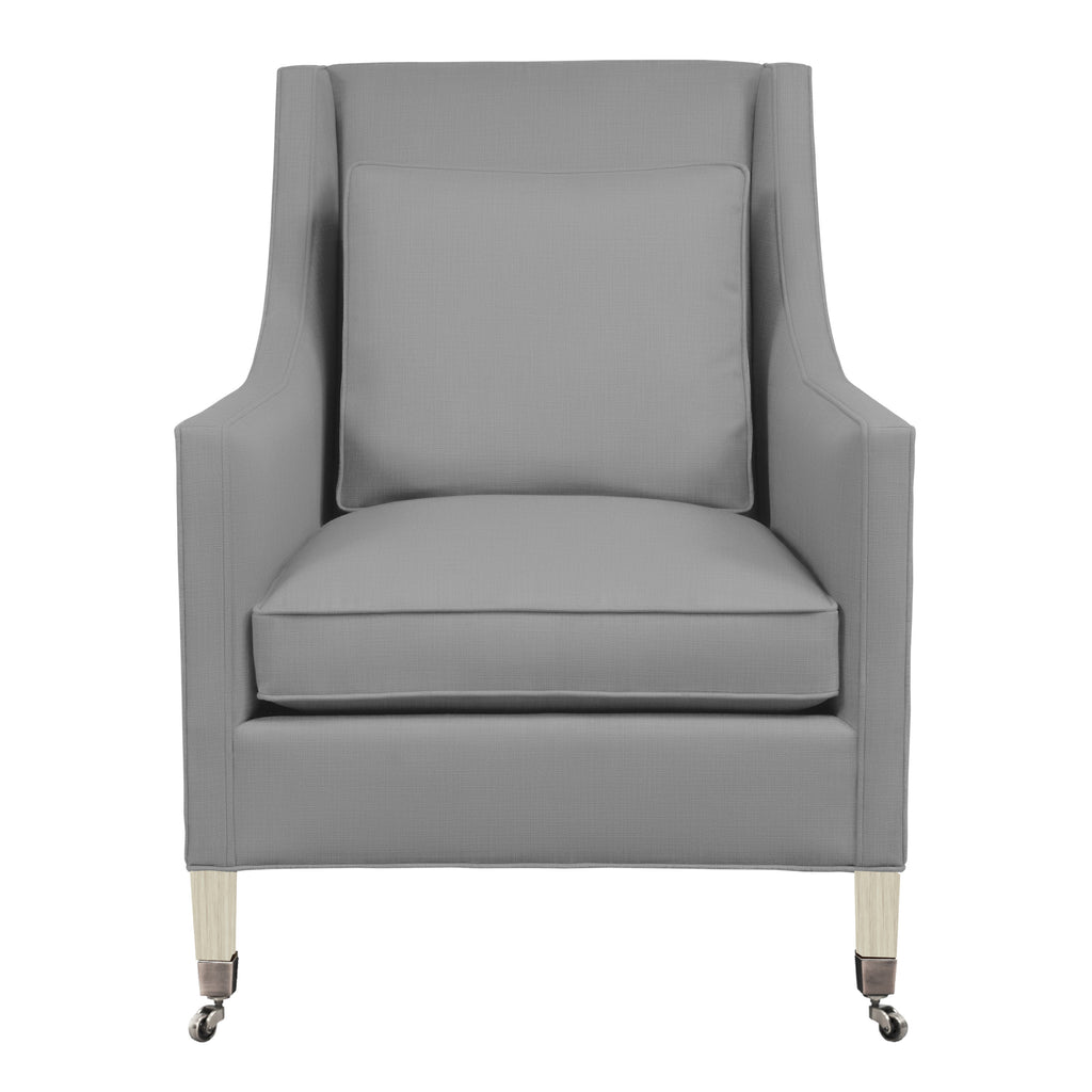 Carter Chair, Light Grey Solid , Dutch Cocoa Frame