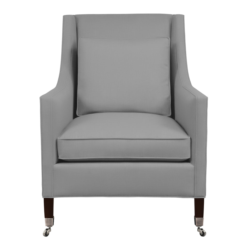 Carter Chair, Light Grey Solid , Sable Frame