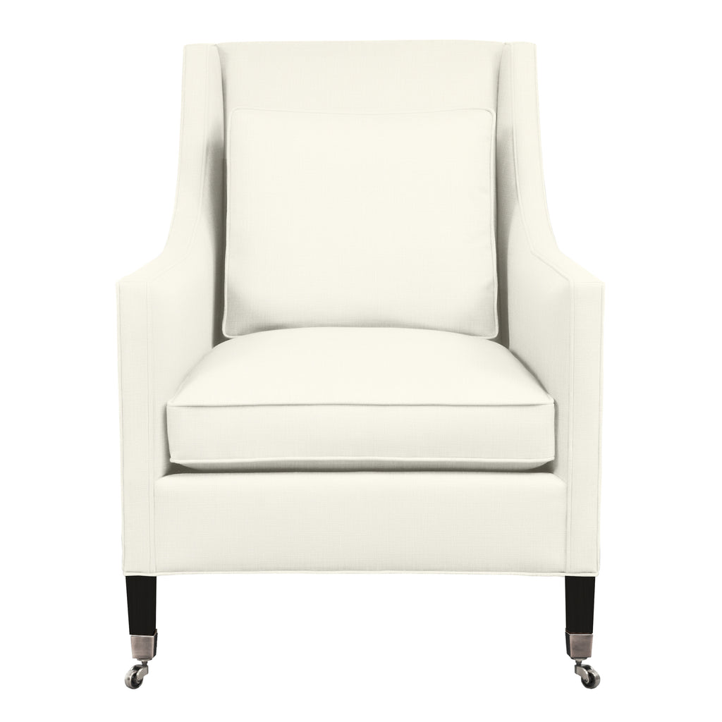 Carter Chair, Ivory Solid , Black Frame