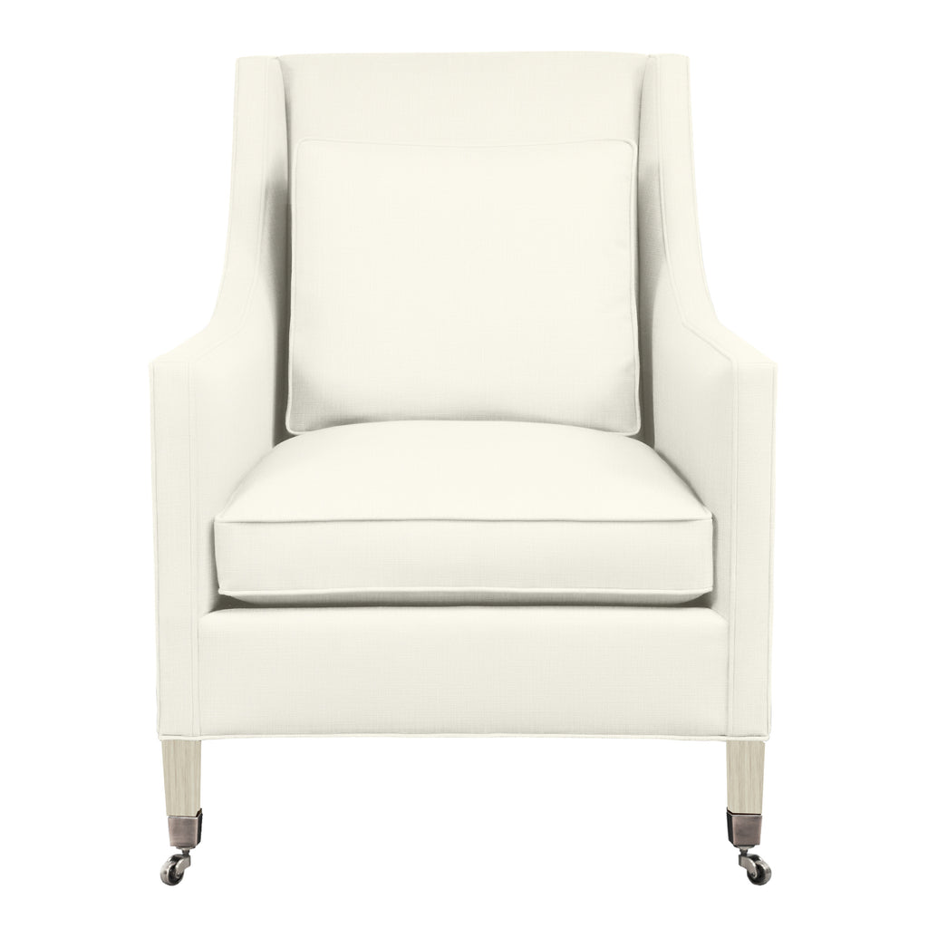 Carter Chair, Ivory Solid , Dutch Cocoa Frame