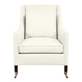 Carter Chair, Ivory Solid , Sable Frame