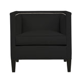 Cameron Chair, Dark Grey Velvet , Black Frame