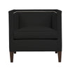 Cameron Chair, Dark Grey Velvet , Sable Frame