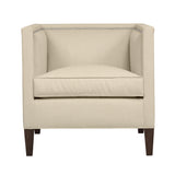Cameron Chair, Beige Velvet , Sable Frame