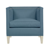 Cameron Chair, Blue Velvet , Dutch Cocoa Frame