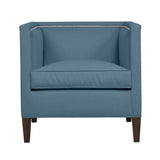 Cameron Chair, Blue Velvet , Sable Frame