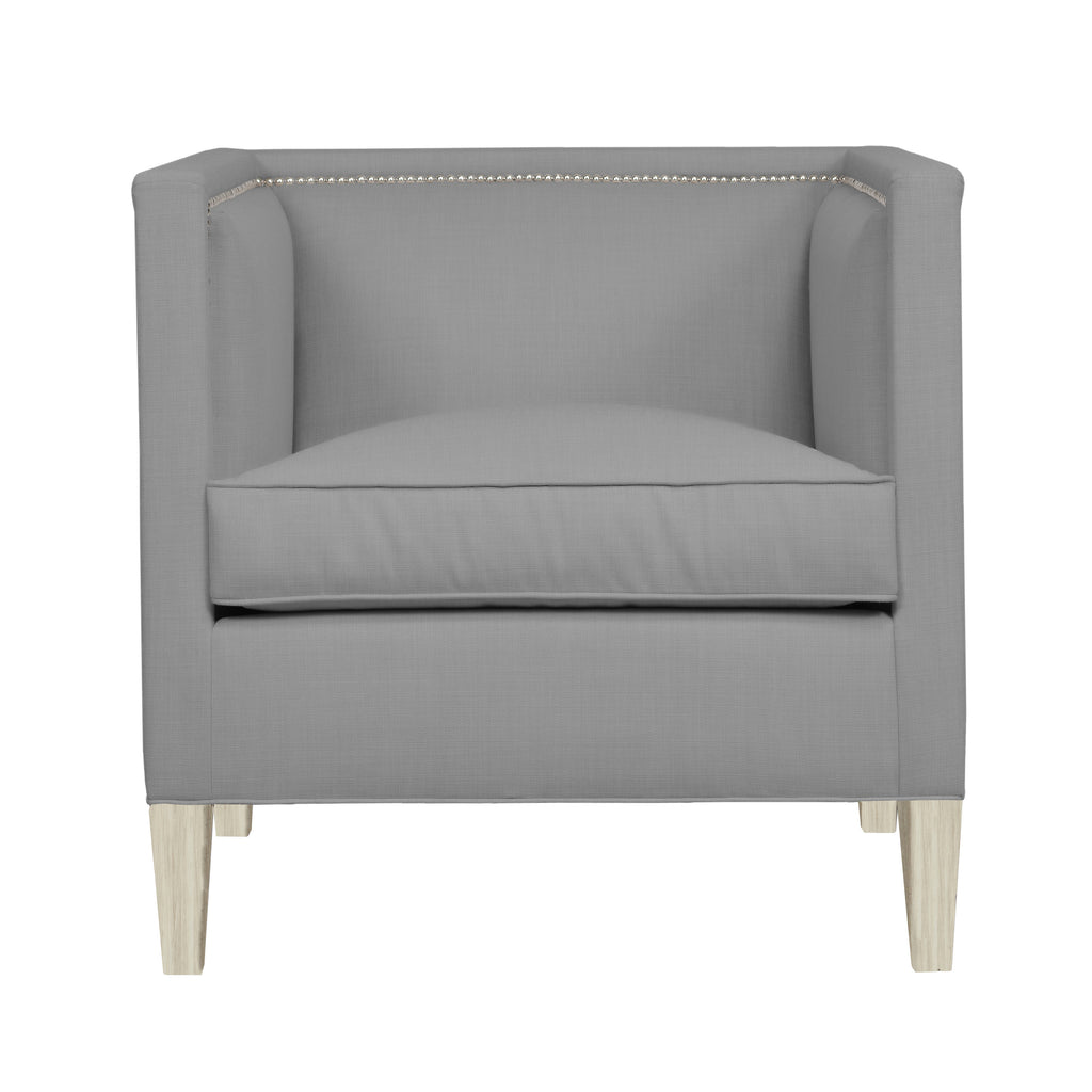 Cameron Chair, Light Grey Solid , Dutch Cocoa Frame