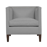 Cameron Chair, Light Grey Solid , Sable Frame