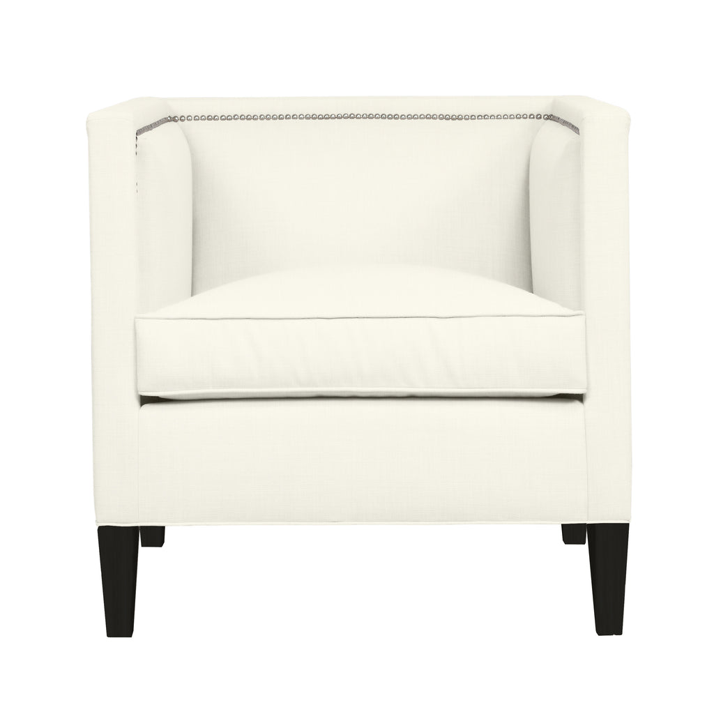 Cameron Chair, Ivory Solid , Black Frame