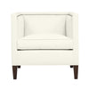 Cameron Chair, Ivory Solid , Sable Frame