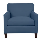 Emma Chair, Navy Cryptonhome Diamond Pattern, Sable Frame