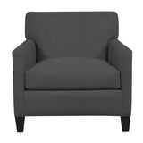 Emma Chair, Dark Grey Cryptonhome Texture Herringbone Pattern, Black Frame