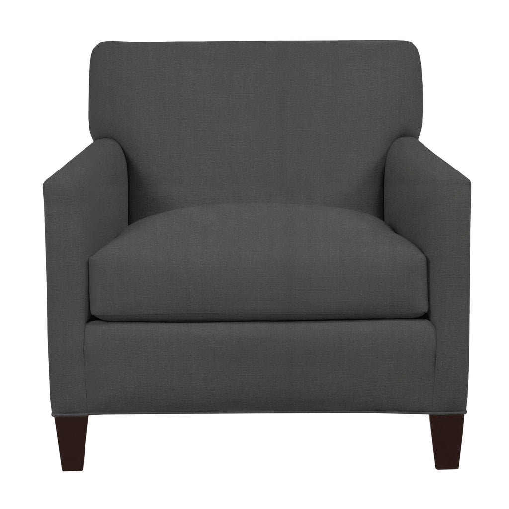 Emma Chair, Dark Grey Cryptonhome Texture Herringbone Pattern, Sable Frame