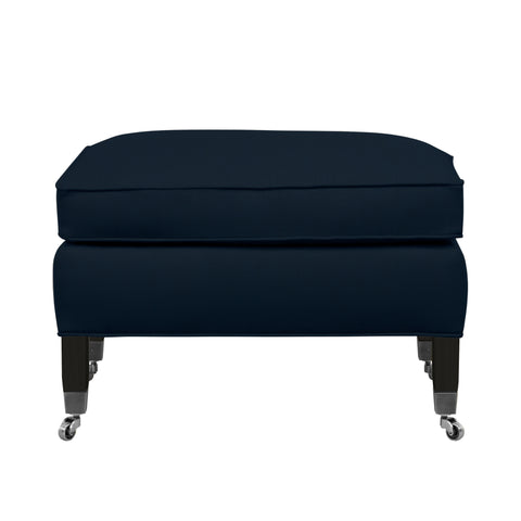 Carter Sofa, Navy Velvet , Black Frame
