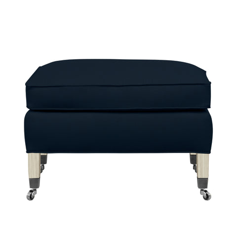 Carter Chair, Navy Velvet , Dutch Cocoa Frame