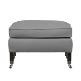 Carter Ottoman, Light Grey Solid , Sable Frame