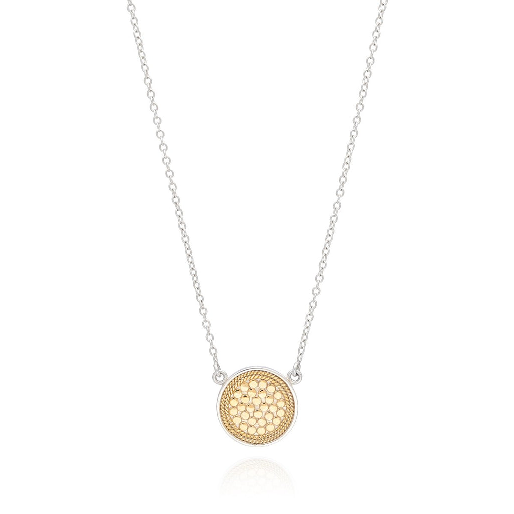 Anna Beck Dotted Disc Necklace - Gold