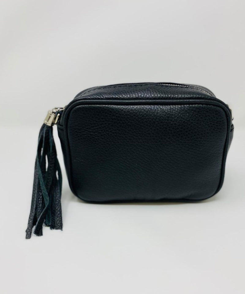 Soft Leather Camera Bag - Black