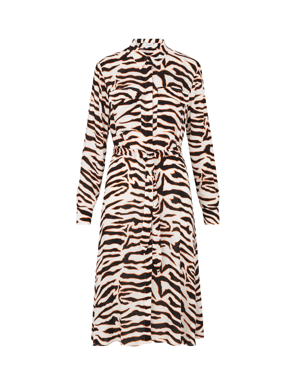 Levete Room Ivy Dress - Orange Zebra