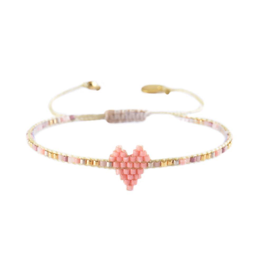 Mishky Heartsy Beaded Bracelet - Pink