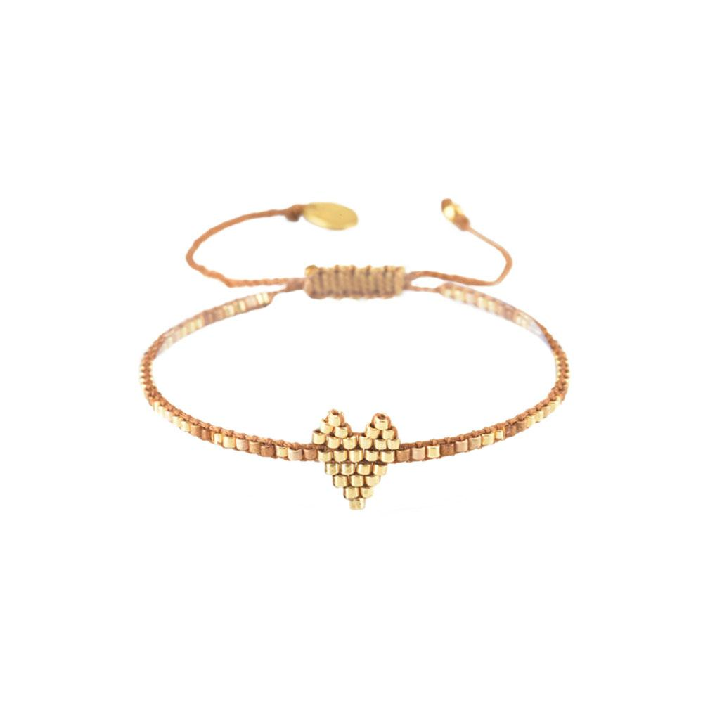 Mishky Heartsy Beaded Bracelet - Gold