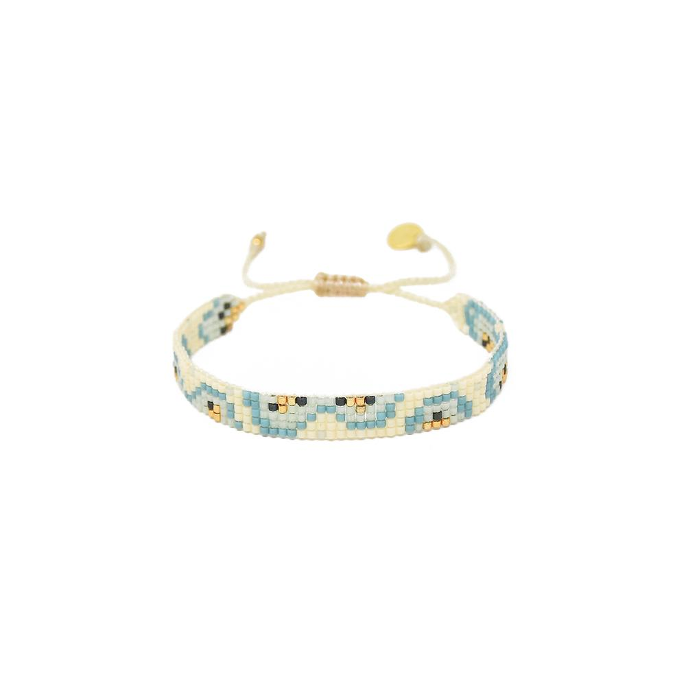 Mishky Fiore Beaded Bracelet - Pale Blue