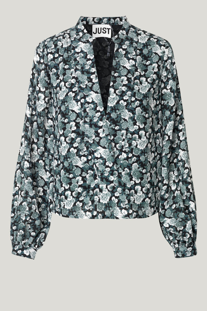 Just Female Effie Blouse - Balsam Green Floral
