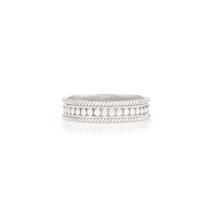 Anna Beck Classic Dotted Stacking Ring  - Silver