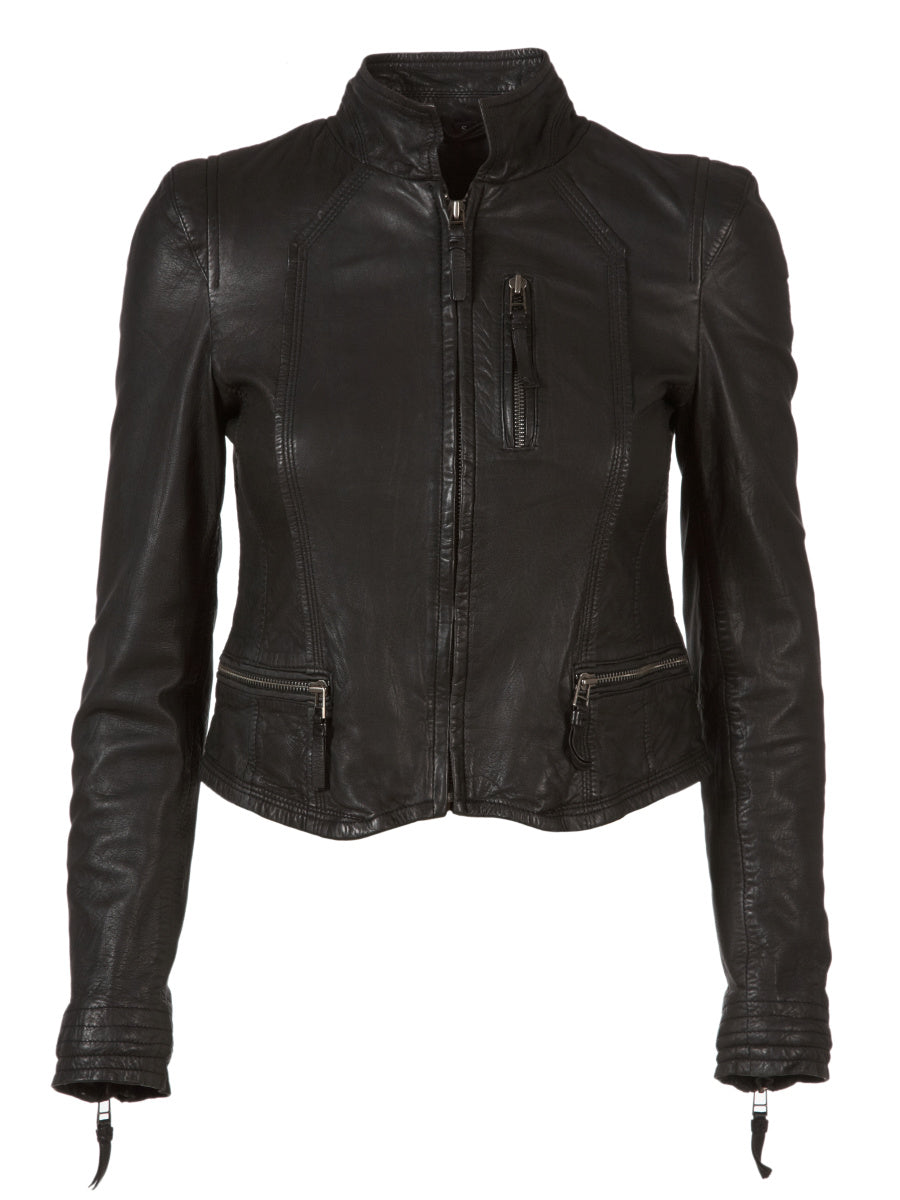 MDK Rucy Leather Jacket - Black