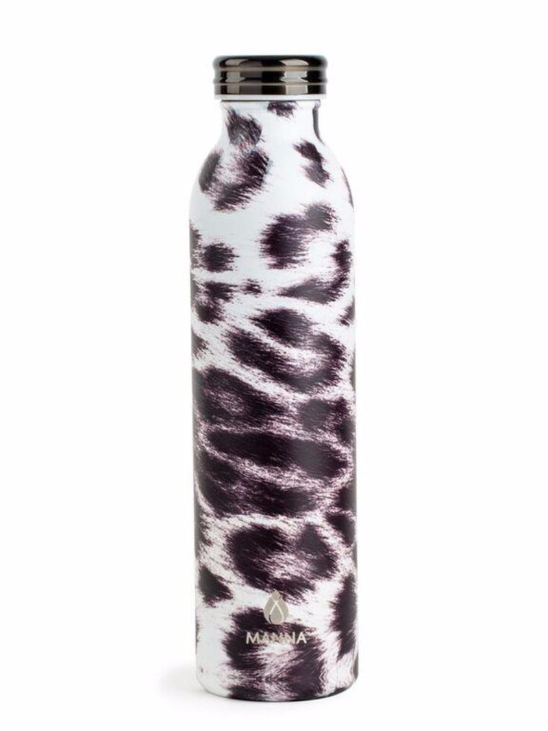 Manna Hydration Water Bottle  - White Leopard