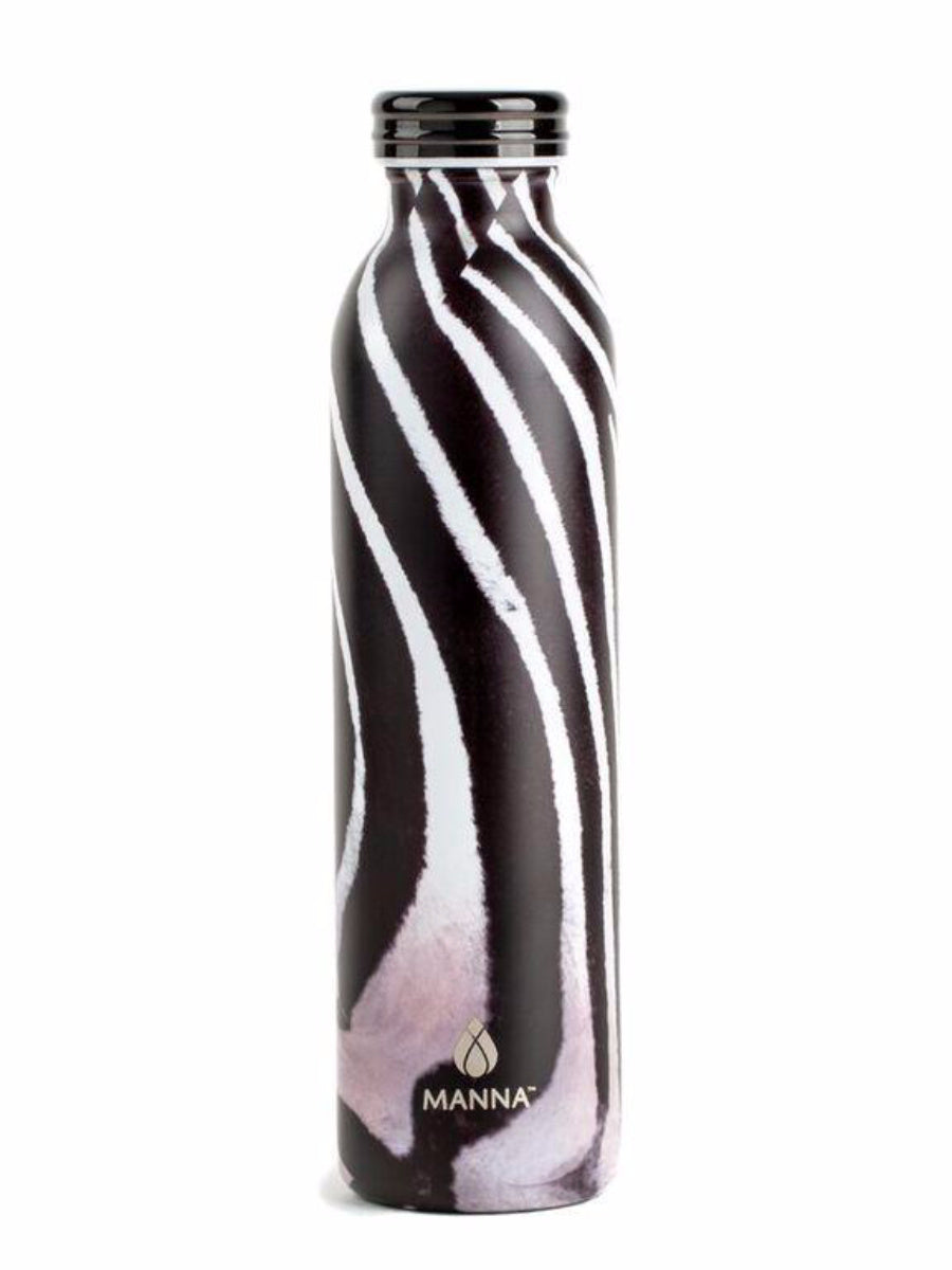 Manna Hydration Water Bottle  - Zebra
