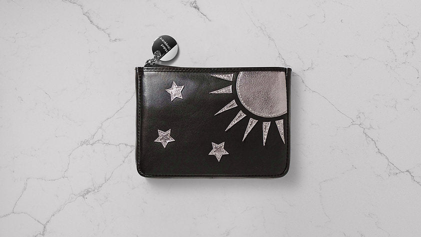 Mabel Sheppard Celestial Leather Purse - Black