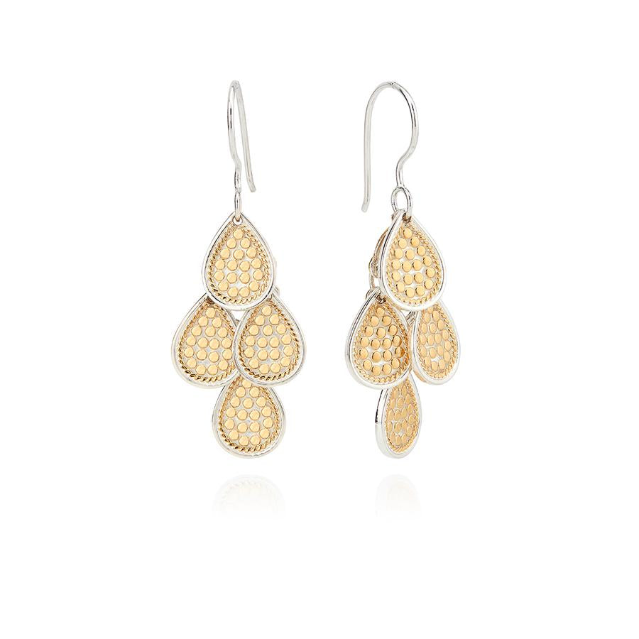 Anna Beck Dotted Chandelier Earrings - Gold