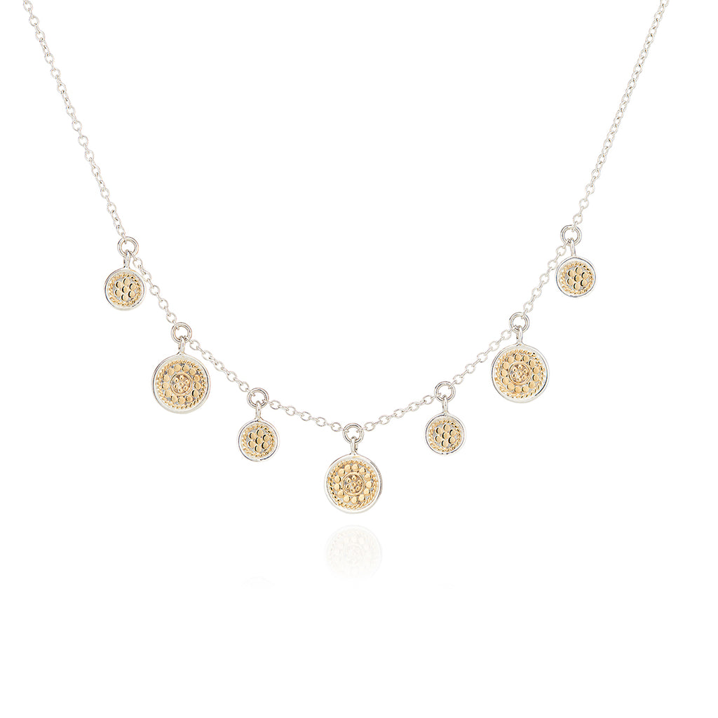 Anna Beck Minil Disc Charm Necklace - Gold