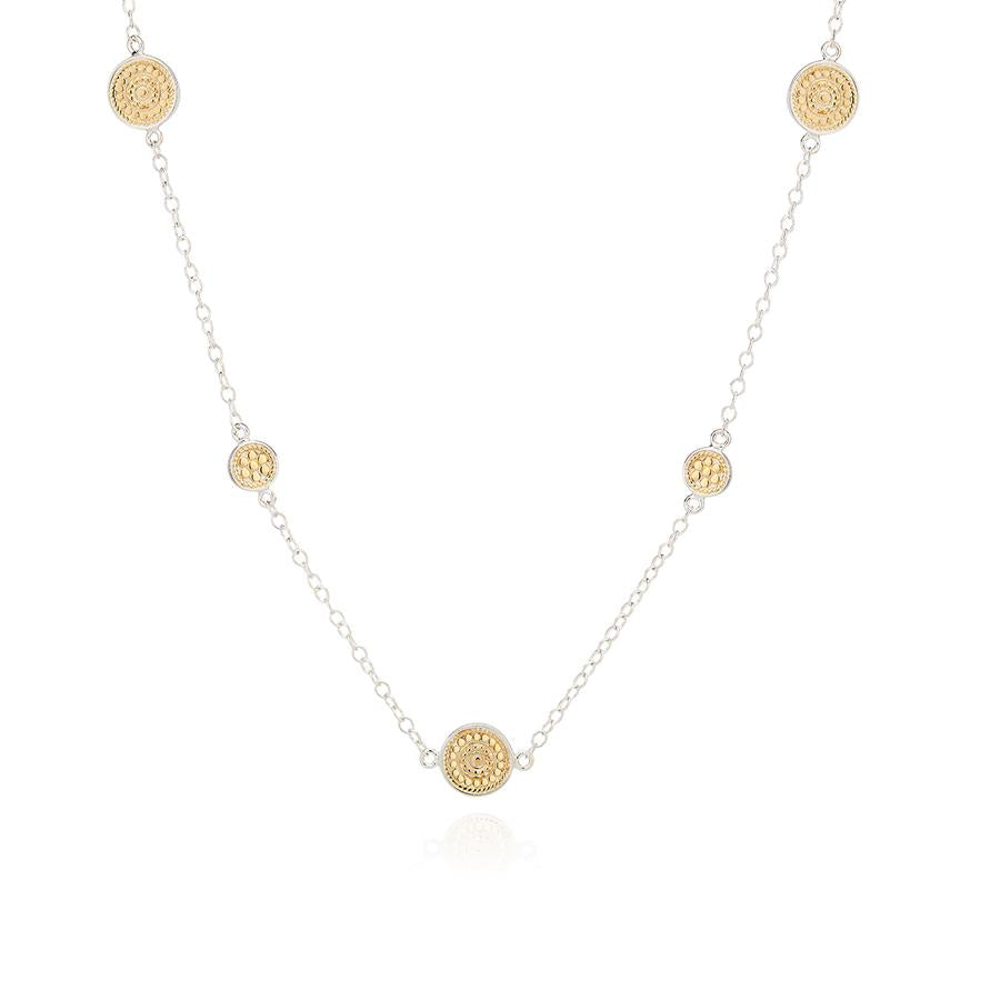Anna Beck Dotted Station Necklace - Gold