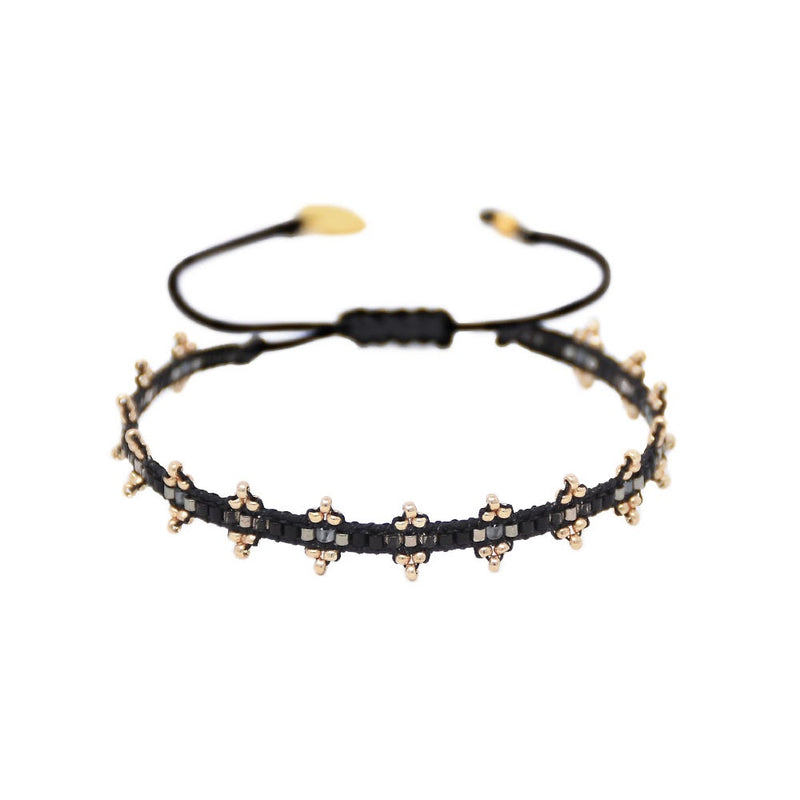 Mishky SHANTY Beaded Bracelet - Black and Gold