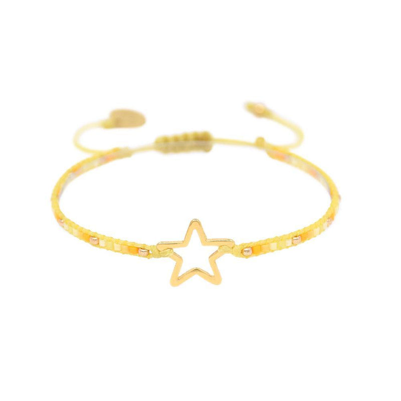 Mishky Melted Star Bracelet - Yellow