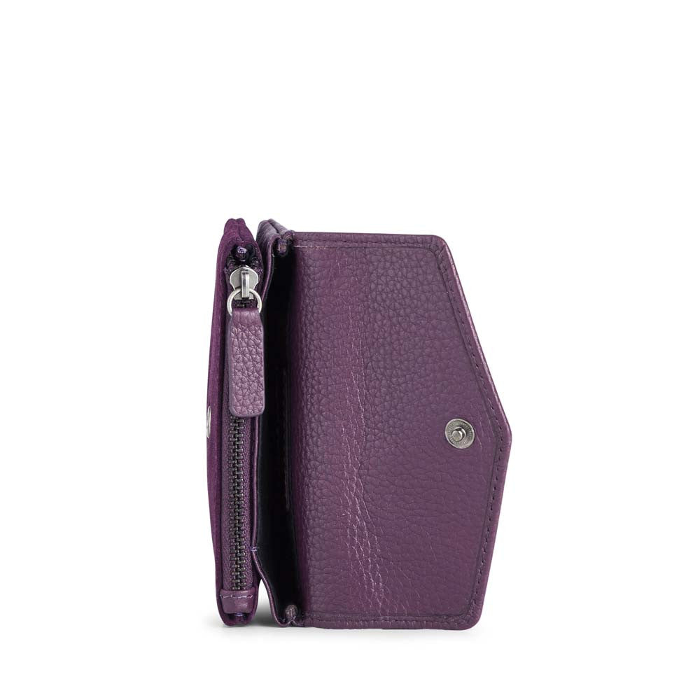 MarkBerg Faith Coin Purse - Dark Purple Suede
