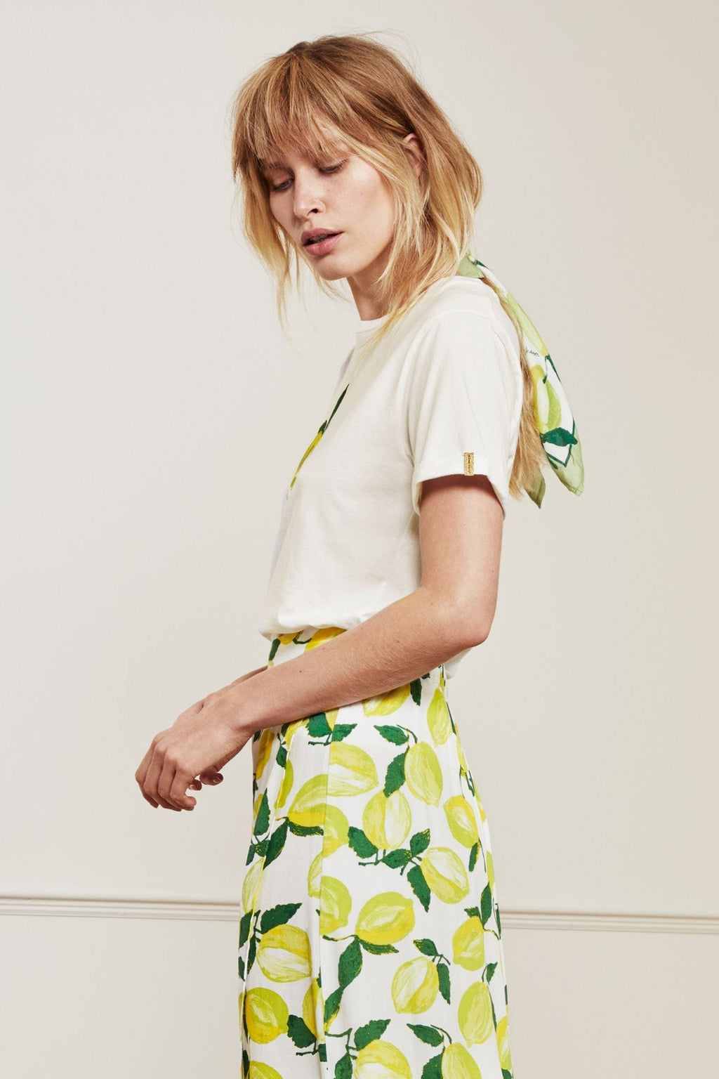 Fabienne Chapot Romy Lime T-Shirt - Off White