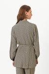 Second Female Choco Herringbone Jacket - Caviar