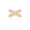 Anna Beck Classic Cross Ring - Gold