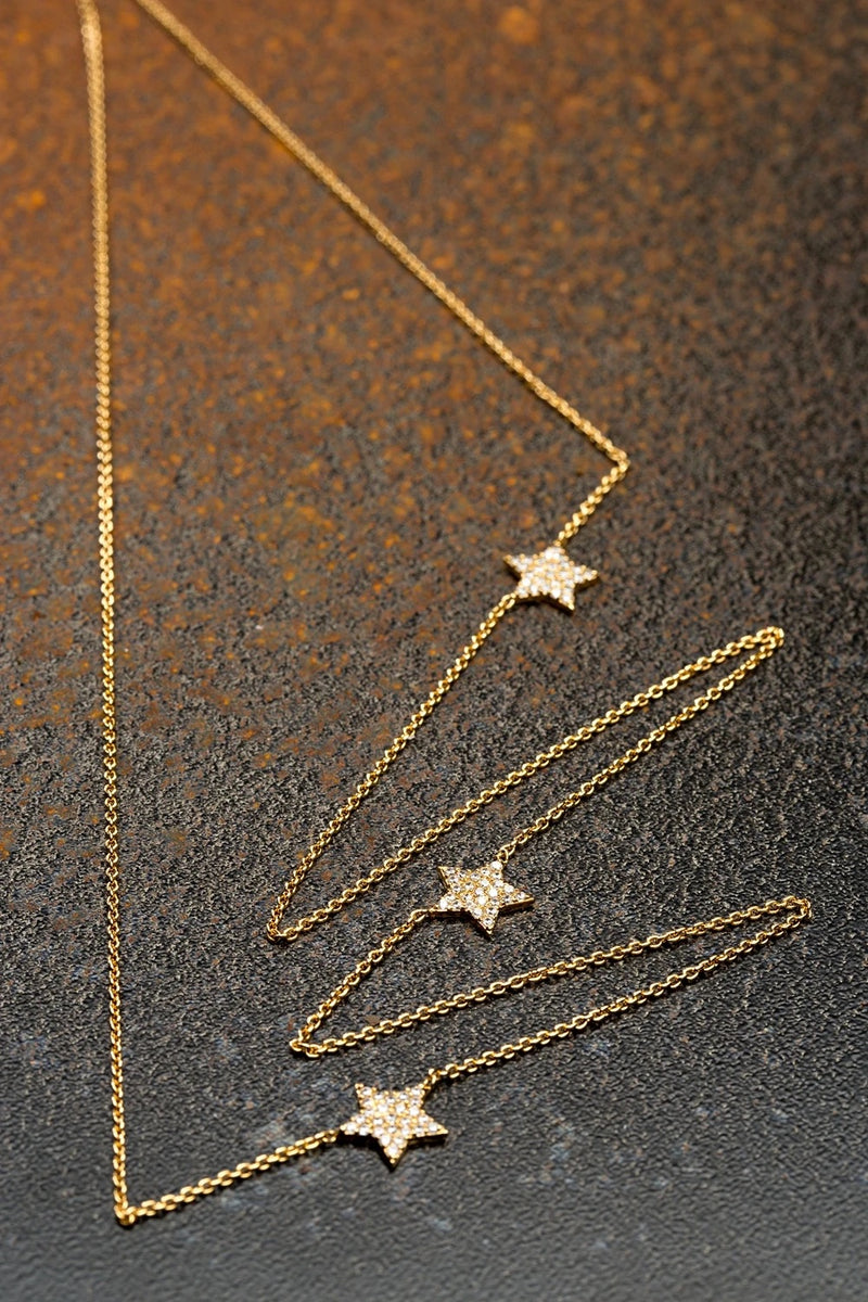 Scream Pretty Gold Startburst Necklace
