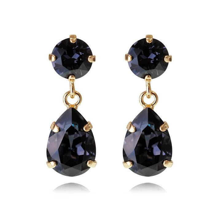 Caroline Svedbom Mini Drop Earring Gold - Graphite